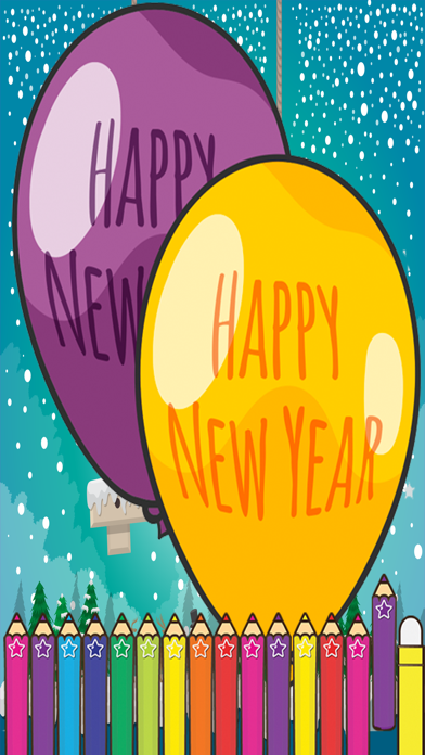 Happy New Year Coloring for kids Holiday Games screenshot one