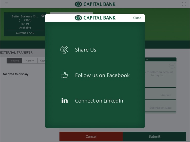 Capital Bank Corporation for iPad screenshot-4