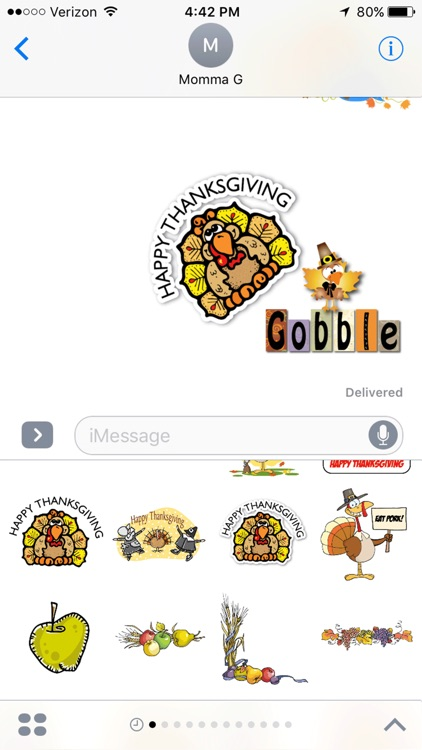 Thanksgiving iMessage Stickers screenshot-3