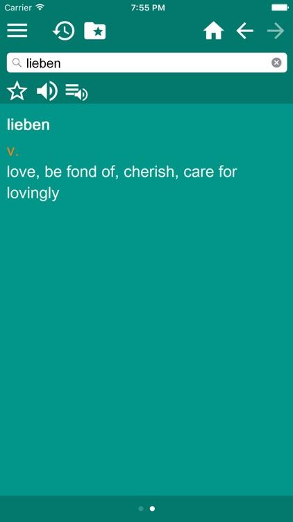 English German Dictionary Free screenshot-3