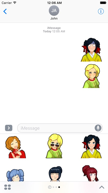 Sushi Girls Stickers Pack for iMessage