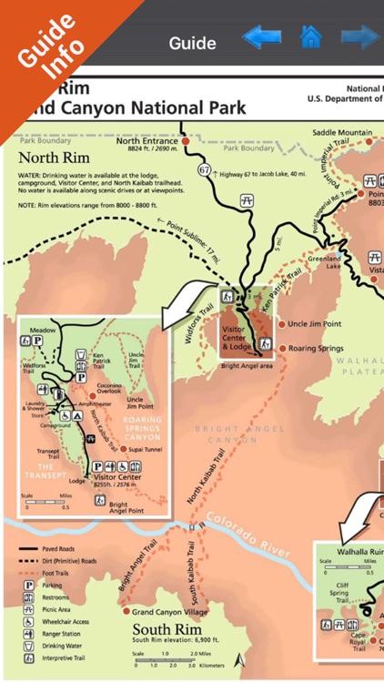 Grand Canyon National Park - GPS Map Navigator screenshot-3