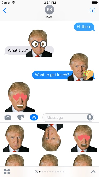 Donald Trump Emoji Sticker Pack