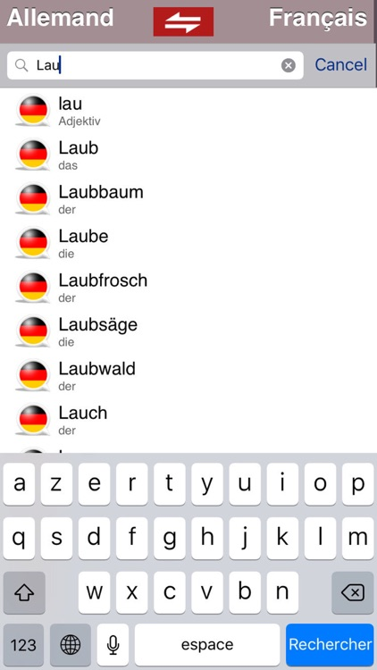 Dictionnaire Français/Allemand