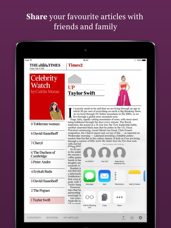 The Times of London (iPad)