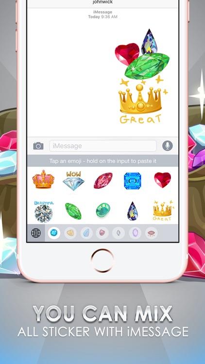 Jewellery Emoji Stickers Keyboard Themes ChatStick