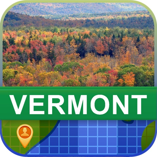 Offline Vermont, USA Map - World Offline Maps