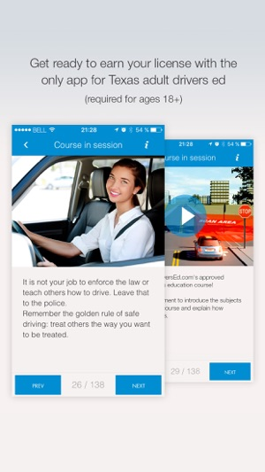 Texas Drivers Ed--for ages 18-24! on the App Store