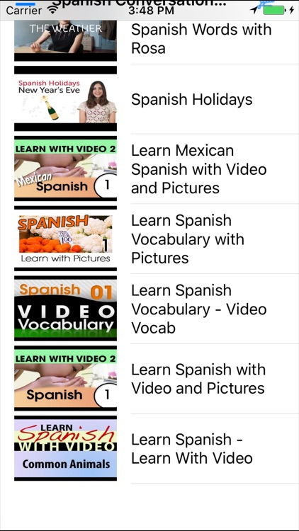 Learn Spanish Conversation with videos