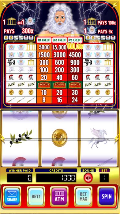 Zeus Epic Myth Slots - Free Play Slot Machine screenshot two