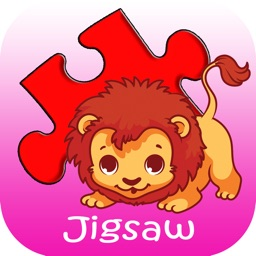 Fun Jigsaw Puzzle Animals for Kids and First Grade