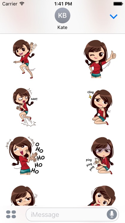 Alice Vol. 2 Stickers for iMessage by AMSTICKERS