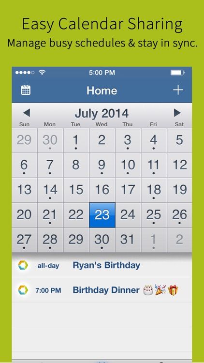 Hub Family Organizer: Shared Calendar & Todo Lists