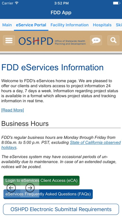 FDD App by Office of Statewide Health Planning & Development