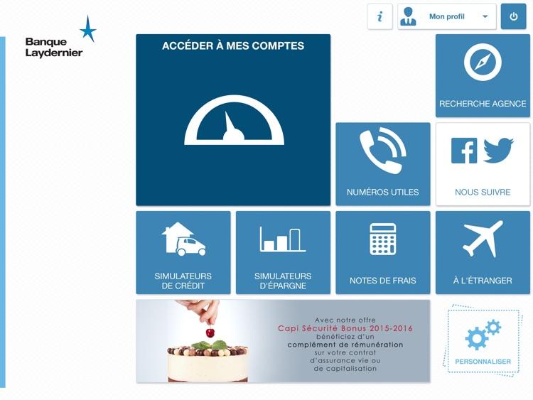 Banque Laydernier pour iPad