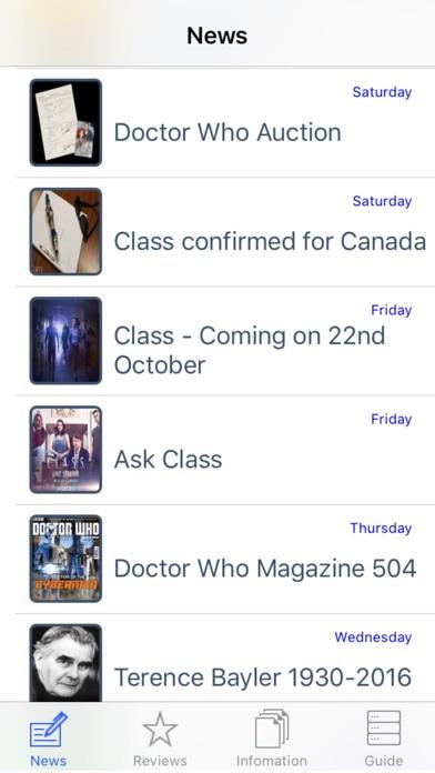 NITAS - Doctor Who News Screenshot on iOS