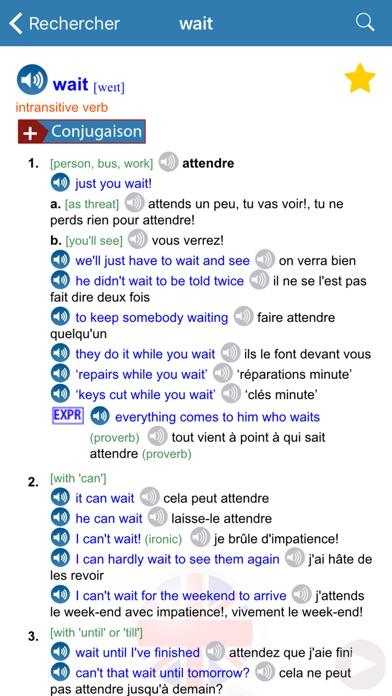 Dictionnaire Anglais/... screenshot1