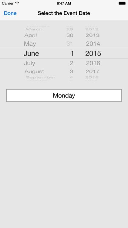 Countdown to an Event screenshot-4