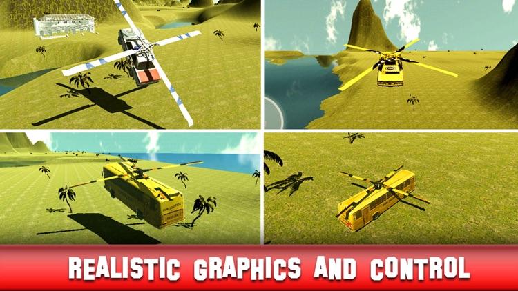 Flying Police Car: Flight Simulator 2016 Car Chase screenshot-4