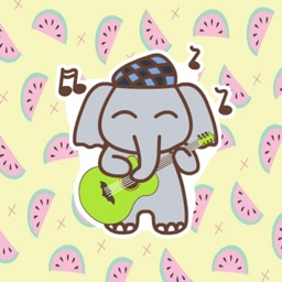 Animated Kid Elephant - Fx Sticker
