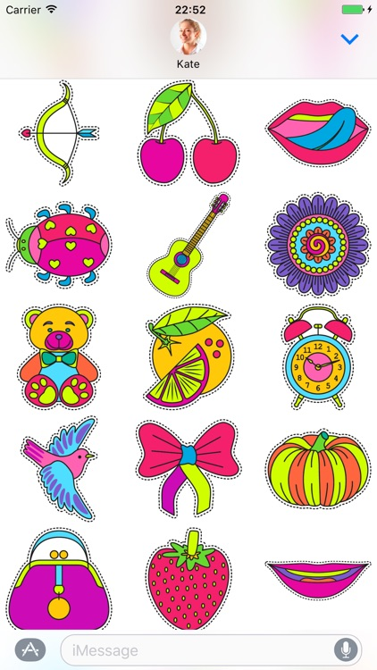 Fashionable cute - Stickers for iMessage screenshot-4