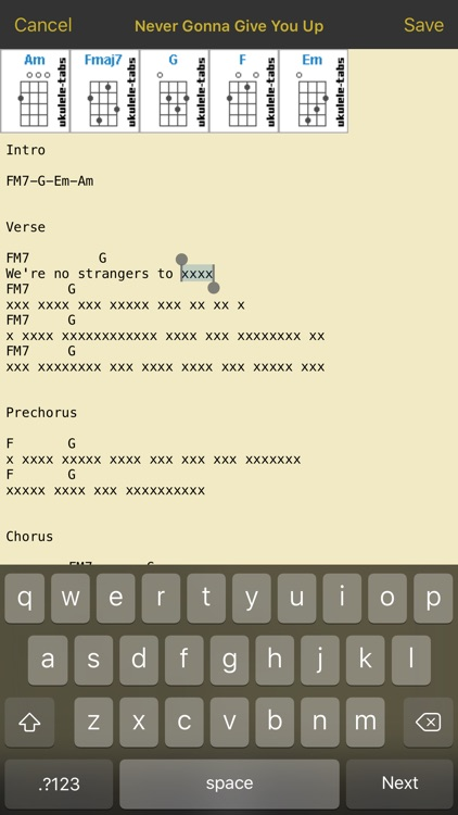 UkuleleTabs screenshot-2