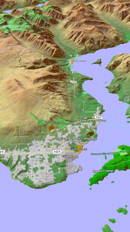 Scenic Map Western Canada screenshot-3