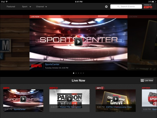 WatchESPN iPad