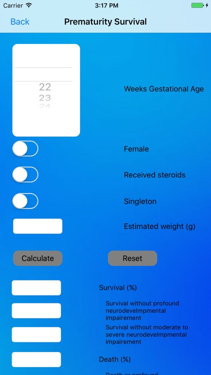 Perinatal Calculators screenshot-3