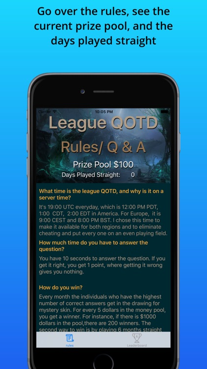 League QOTD -For League of Legends