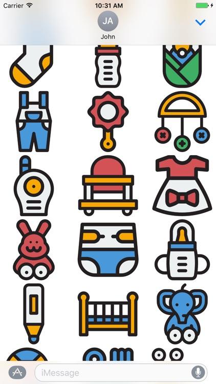 Baby Stickers - Great Emoji 's for Parents screenshot-4
