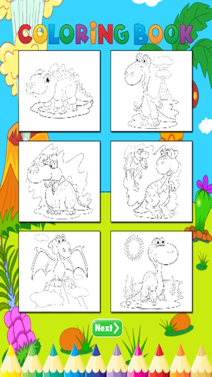 Dinosaur Coloring Book - For Kids