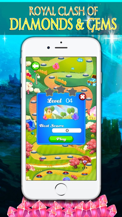 Royal Clash of Diamonds and Gems - Puzzle screenshot three