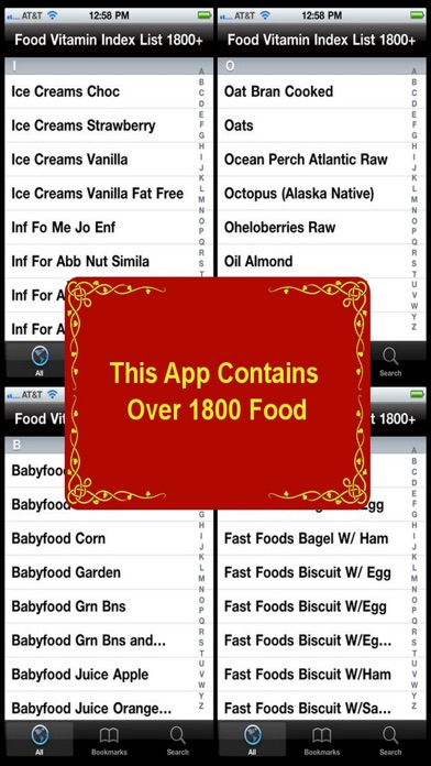 Food Vitamin Index List 1800 review screenshots