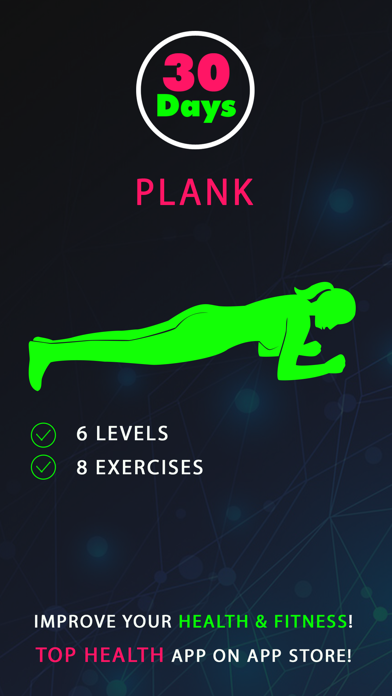 30 Day Plank Fitness Challenges Workout screenshot one