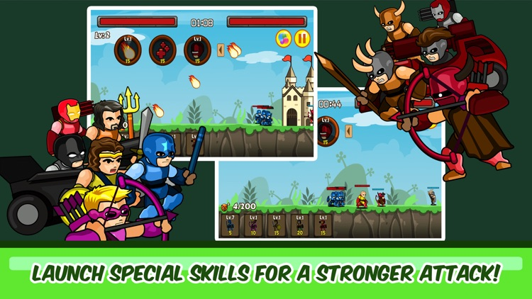 SuperHero Castle Defense – The Age of America Free