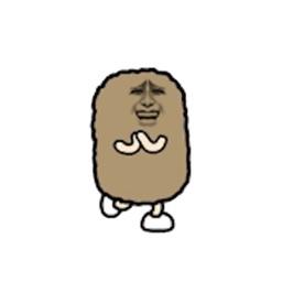 Crazy Potato Stickers