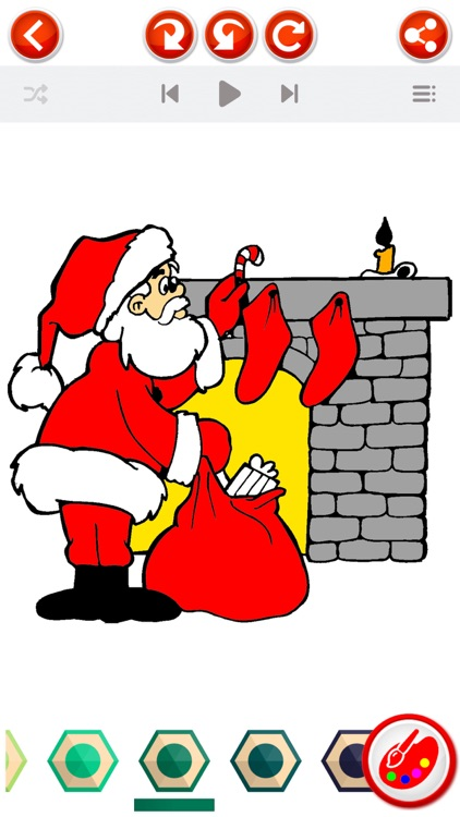 Christmas Coloring Book  - Xmas Pictures to Color screenshot-3