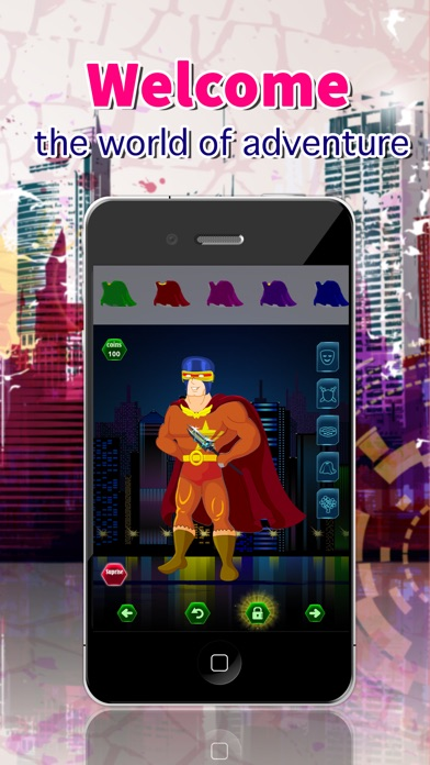 SuperHero Dress Up Create A Character Games Screenshot on iOS
