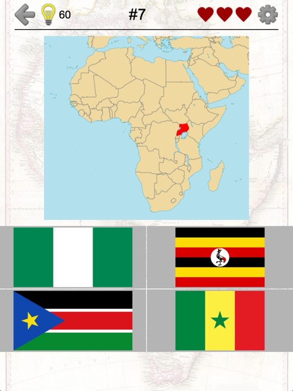 African countries flags and map of africa quiz app price drops screenshot 1 for african countries flags and map of africa quiz gumiabroncs Choice Image
