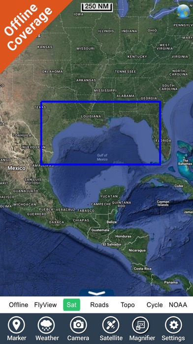 Marine Florida to Mexico HD GPS Map Navigator