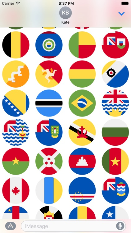Flags Stickers -New Emoji for Texting in iMessage screenshot-3