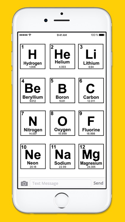 Periodic Table of Elements Black & White Stickers