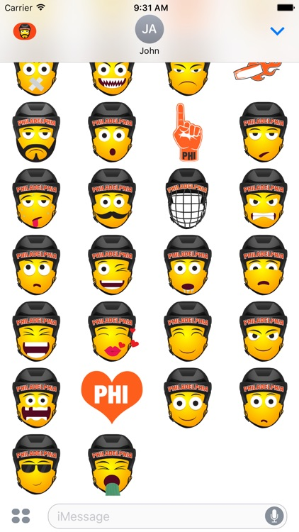 Philadelphia Hockey Stickers & Emojis screenshot-3