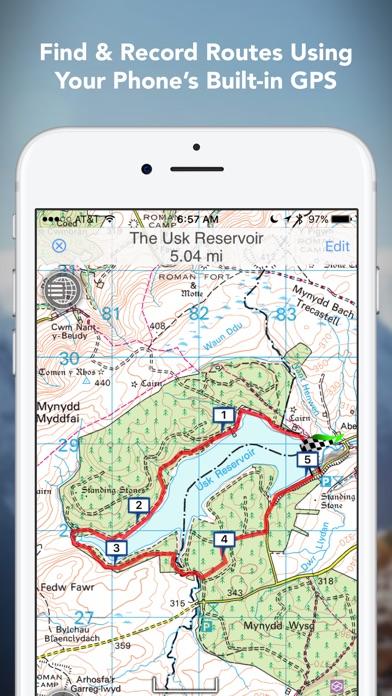 Outdoors GPS – Offline OS Maps Скриншоты4