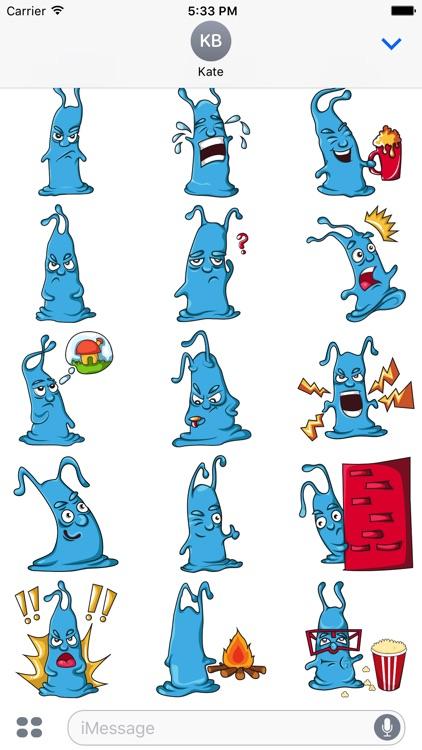 Blue Monstickers
