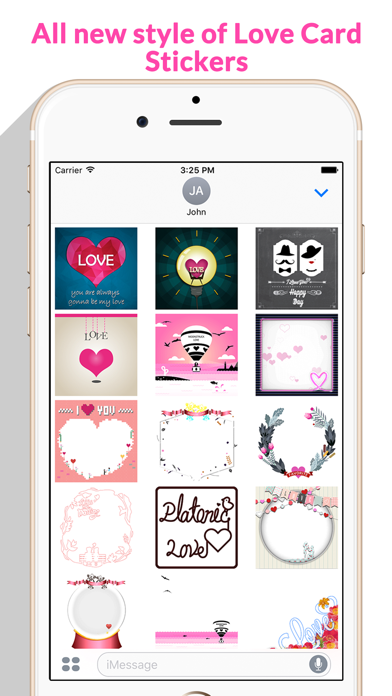 Love Card - Beautiful Lovely Card Stickers screenshot two