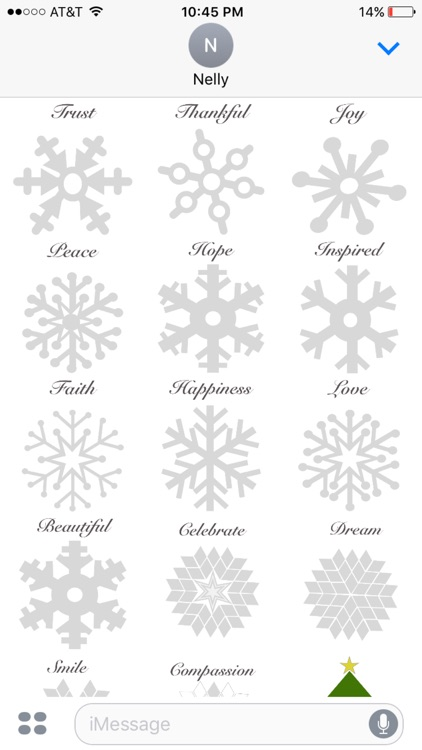 Winter snowflakes stickers screenshot-3