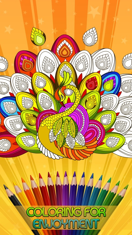 Adult Coloring Book - Creatively Calm Mind screenshot-3