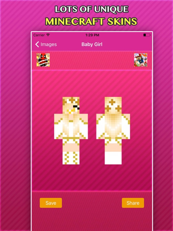 New BABY GIRLS SKINS FREE For Minecraft PE PC App Price Drops - Skin para minecraft pe baby